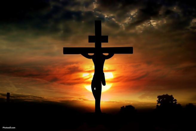 jesus_on_cross_at_sunset