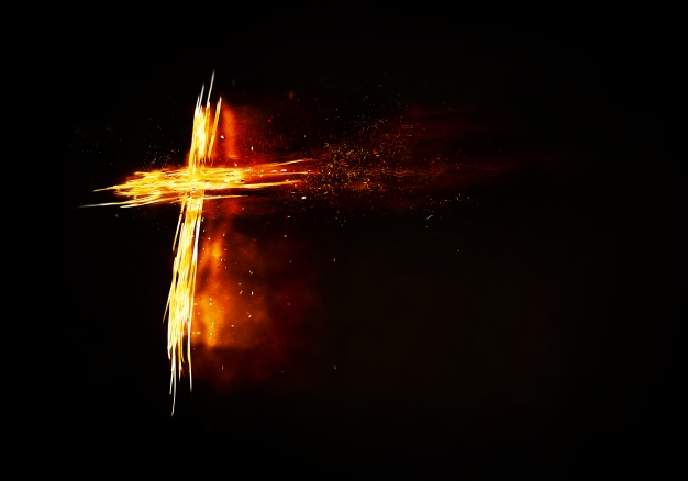 Abstract burning cross