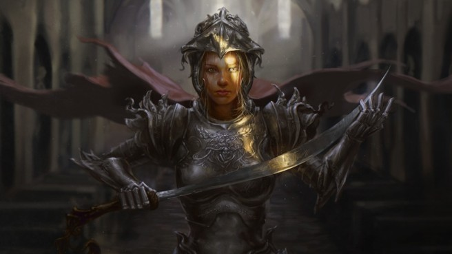 792164-armor-artwork-blondes-churches-fantasy-art-hero-swords-warriors-women
