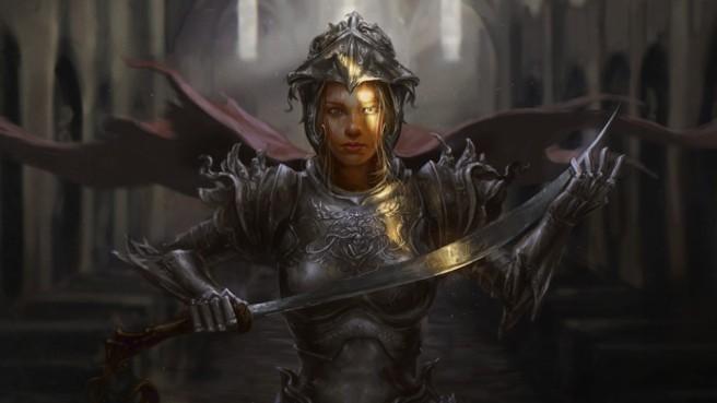 792164-armor-artwork-blondes-churches-fantasy-art-hero-swords-warriors-women