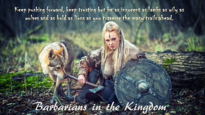 Barbarian woman wolf