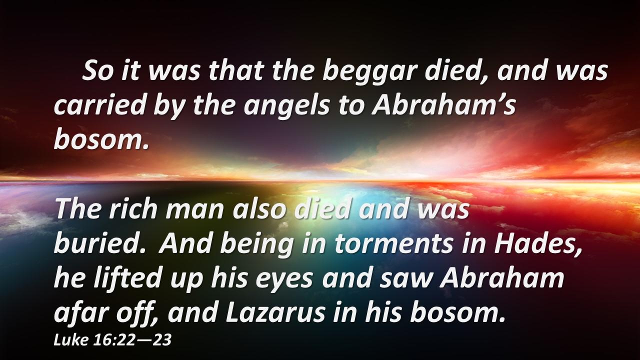 bosom of Abraham