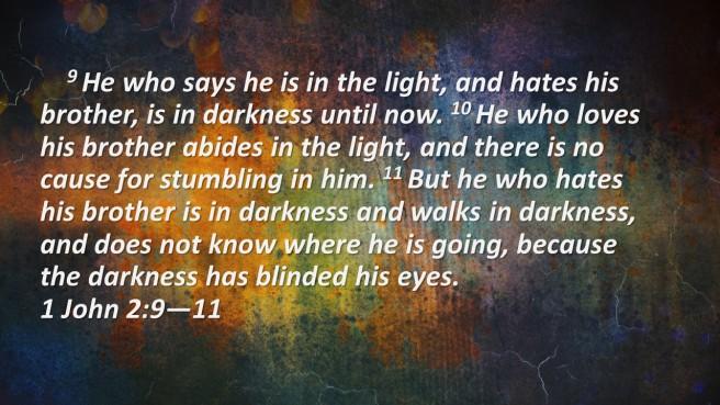 1 John Walking in darkness