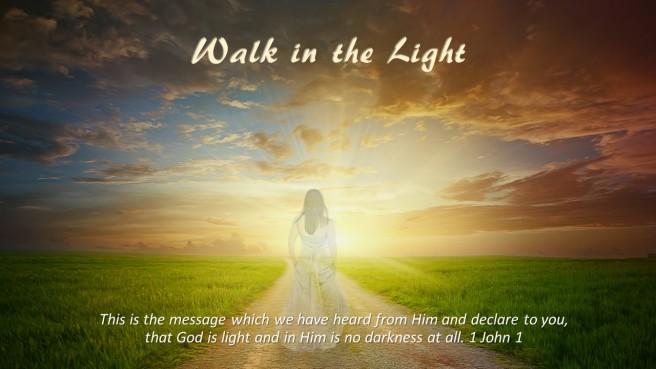 God is Light woman walking