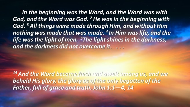 the word become flesh