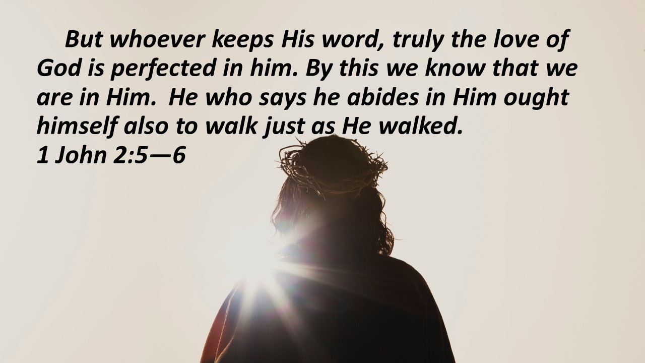 walk in the light Jesus
