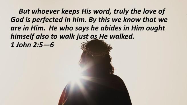 walk in the light Jesus