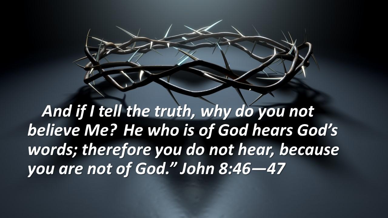 Hear God's words