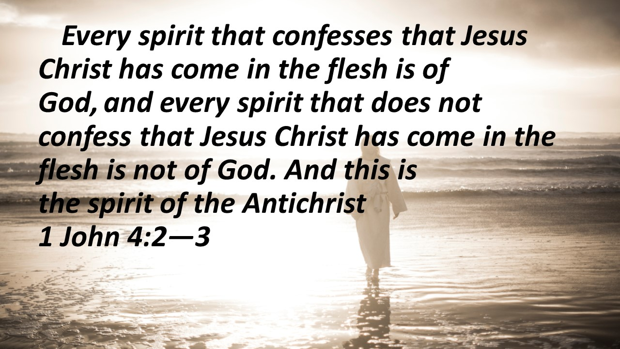 Spirit of the Antichrist